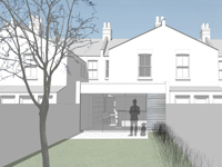 Rear view of Earlsfield House Extension