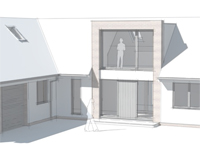 Render of proposed exterior of house